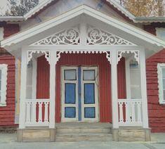 Outdoor Pergola, Outdoor Decor, Scandinavian Cottage, Timber House, Valance Curtains, Sweet Home, Garage Doors, New Homes, Exterior