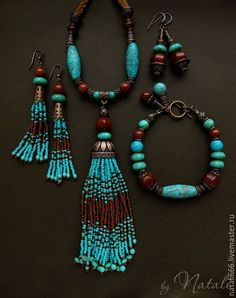 Breathtaking Turquoise Jewelry For a beautiful Bohemian style. - - Breathtaking Turquoise Jewelry For a beautiful Bohemian style. Boho – Artisan jewelry – boho chic Style Boho chic artisan turquoise jewelry , hand made bohemian earrings and necklaces Bohemian Jewelry, Beaded Jewelry, Vintage Jewelry, Beaded Bracelets, Antler Jewelry, Beaded Tassel Necklace, Bronze Jewelry, Tassel Jewelry, Western Jewelry