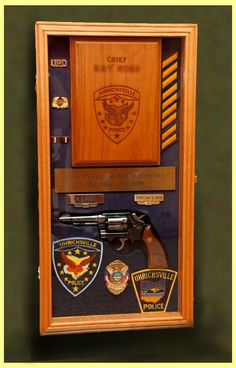 Here is a sampling of Shadow Box Display Cases made for Police Retirements. Items in the box box have been mounted by the customer. Police Retirement Party, Retirement Parties, Retirement Ideas, Cop Wife, Police Officer Wife, Shadow Box Display Case, Diy Shadow Box, Fire Badge, Police Life
