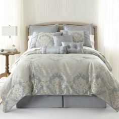 Home Expressions™ Candace 7-pc. Jacquard Comforter Set & Accessories  found at @JCPenney