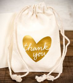 DIY Treat Thank You Bag made with the Silhouette & heat Transfer - perfect for wedding or party favors!