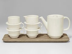 Our stacking tea set available exclusively from crateandbarrel.com
