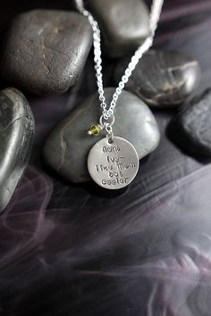 "Great gift for that special aunt - ""like mom, but cooler"" personalized necklace."