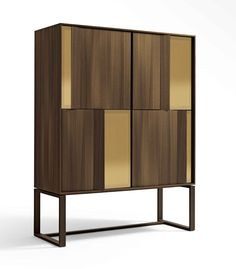 Massimo Castagna Origami Storage - Square tall or rectangular low cabinet with the structure in mdf and smoked eucalyptus veneer. Luxury Furniture, Cool Furniture, Modern Furniture, Furniture Design, Sideboard Furniture, Sideboard Cabinet, Bar Cart Decor, Cabinet Design, Interiores Design