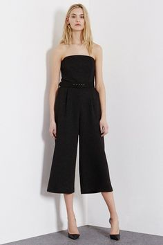 Pin for Later: 33 Culotte Jumpsuits That'll Change Your Mind About the Trend Warehouse Metallic Bandeau Jumpsuit Warehouse Metallic Bandeau Jumpsuit (£40, originally £80)