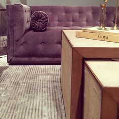 Retro-Mod take on a Chesterfield - Tufted Urban Euro Luxe by DwellStudio — High Point Fall Market 2013   Apartment Therapy #HPMKT