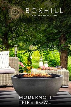 Wow check out this remarkable outdoor fire patio - what a clever type Landscaping With Rocks, Backyard Landscaping, Backyard Patio, Landscape Design, Garden Design, Forest Landscape, Outside Fire Pits, Fire Bowls, Fire Pit Bowl