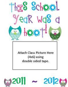 End of Year Class Memory Book-OWLS (for teacher and/or class) Student Teacher, Teacher Tools, Teacher Resources, Teacher Gifts, Teaching Ideas, Owl Theme Classroom, Classroom Art Projects, Future Classroom, Classroom Ideas