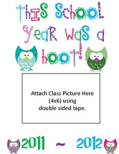 End of Year Class Memory Book-OWLS