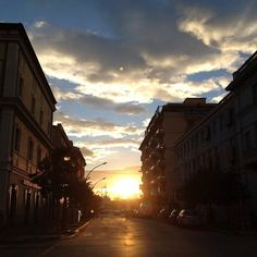 The sunset on Pescara today :)