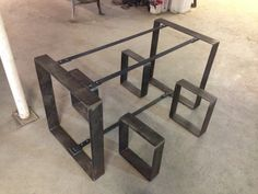 Flat Metal Table Frame and Bench Legs by BlueRidgeMetalWorks