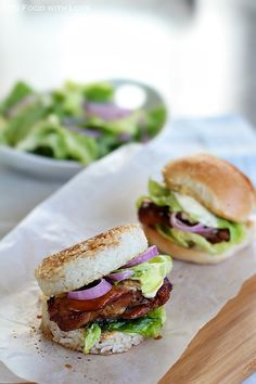 To Food with Love: Teriyaki Chicken Rice Burgers (Sliders)