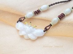 $39.00 Purity Lotus Flower Carved White Jadeite Jade Amulet Pendant (50 x 20 x5 mm) Necklace - Fortune Feng Shui Jade Jewelry by Fortune Jewelry & Healing Beauty, http://www.amazon.com/dp/B00D9SPEI8/ref=cm_sw_r_pi_dp_FymTrb0N4TA36