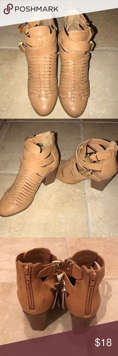 Tan Charlotte Russe Booties Tan Charlotte Russe Booties. Barely worn. No damage. Charlotte Russe Shoes Ankle Boots & Booties