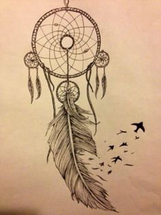 "dreamcatcher with peacock feathers and birds, ""dreamer"" tattoo - Google Search"