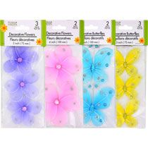 Bulk Floral Garden Sheer Butterflies and Flowers at DollarTree.com - DIY projects to bling out event decor