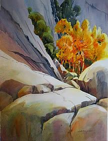Mike Bailey - Watercolor Landscapes: Base of the Wall