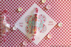 Free Printable Valentines: DIY Smarties Love Bug Cards | snippets :: a blog by Leslie Ann Jones