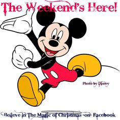 Mickey Mouse - The Weekend's here Mickey Mouse Design, Mickey Minnie Mouse, Disney Mickey, Run Disney, Disney Magic, Mickey Mouse Clasico, Mickey Mouse Imagenes, Png Transparent, Mickey Mouse Wallpaper