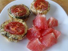 Suzanne's Kitchen : Egg, feta, tomato mini quiches