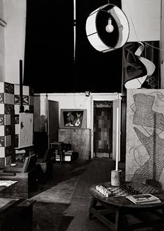 Interior of Man Ray's studio (Guy Bourdin, 1953–1957)