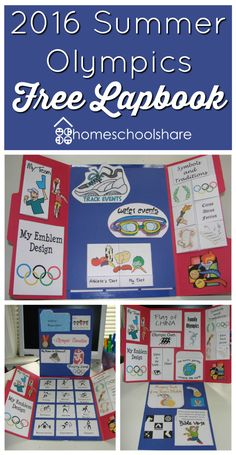Are you excited about the upcoming Olympics? Teach your child all about them with this FREE 2016 Summer Olympics Lapbook. This lapbook includ Olympic Idea, Olympic Games, Olympic Gymnastics, Gymnastics Quotes, Summer Olympics, Kids Olympics, Summer School, Summer 2016, Summer Fun