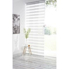 Panneau japonais Jour / Nuit INSPIRE, blanc, 250 x 50 cm