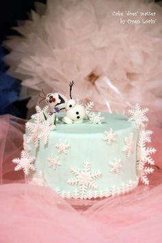 Frozen inspired cake Hello, Olaf!!