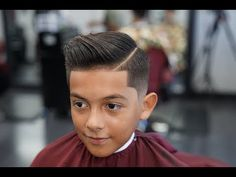 Barber Tutorial : THE COMB OVER! drop fade - YouTube