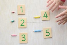 Matching Short Bead Stair to Numerical Symbols Montessori Color, Montessori Activities, Color Activities, Early Childhood Education, Early Education, Activity Sheets, Picture Cards, Writing Practice, Math Games