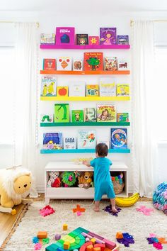 Rainbow Nursery Reveal featuring furniture from The Land of Nod