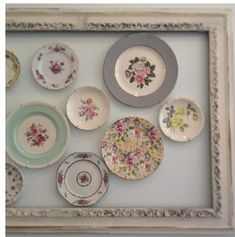 Beautiful way to display your vintage plates!