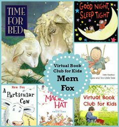 This months Virtual Book Clubs Author is Mem Fox. She has fun and creative books! Book Club Books, Book Lists, Children's Books, Play Based Learning, Kids Learning, House Of Night Books, Reading Incentives, Best Children Books, Shared Reading