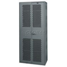 Hallowell All Welded TA50 Military Gear Storage Locker Gray