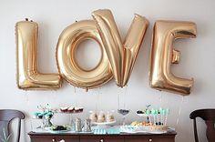 FREE SHIPPING Wedding Decor LOVE balloons Gold Foil Letter Balloons Wedding Bridal Shower Engagement Party Wedding Super Jumbo Balloons