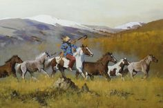 War Horses on the Move by Richard D. Thomas  kp
