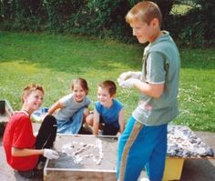 artofoak — Wordshop making mosaic from beach pebbles at local school in Pembrokeshire
