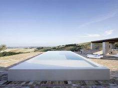 Swimming Pool, Home Renovation In Treia, Italy by Wespi de Meuron