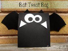 Creative Itch: Bat Treat Bags #Halloween