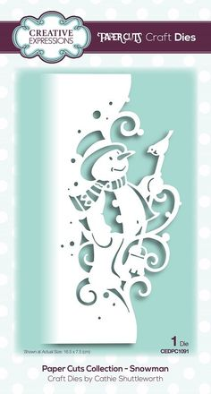 icu ~ Pin on Scrap booking ideas ~ **PRE-ORDER** Creative Expressions - Die - Paper Cuts Collection Snowman Cricut Christmas Cards, Christmas Paper Crafts, Cricut Cards, Paper Crafts For Kids, Christmas Snowman, Christmas Projects, Tape Crafts, Christmas Christmas, Paper Crafting