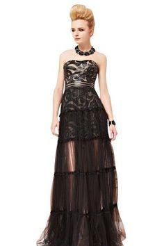 Rea in Black Two Way Tiered Evening Dress Black Evening Dresses, Gathered Skirt, Tiered Dress, Prom Dresses, Formal Dresses, Red Carpet Dresses, Print Design, Chiffon, Feminine