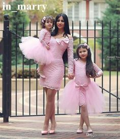 Mother, Sis and I wear pink on Easter Sunday. Baby Girl Party Dresses, Little Girl Dresses, Girls Dresses, Prom Dresses, Mommy And Me Outfits, Family Outfits, Kids Outfits, Toddler Fashion, Kids Fashion