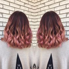 Resultado de imagen de brown pink balayage