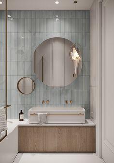 Washroom Design, Bathroom Design Small, Bathroom Interior Design, Modern Bathroom, Blue Bathrooms, Wc Design, Bath Design, House Design, Bathroom Dimensions