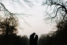 Engagement Shoot in the Winter in Temple Newsam Gardens, Leeds