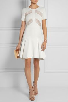 Elie Saab   http://www.net-a-porter.com/product/434733/Elie_Saab/lace-paneled-stretch-knit-dress