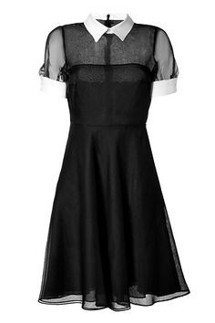 VALENTINO Black/White Silk Dress - inspiration via blossomgraphicdesign.com #boutiquedesign #boutiquewebdesign