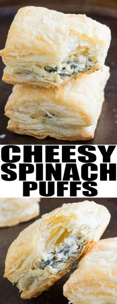 Quick and easy SPINACH PUFFS recipe made with simple ingredients and ready in 30 minutes. This easy appetizer for a party is crispy with a spinach cream cheese filling. {Ad} From cakewhiz.com #appetizer #partyfood #recipe #spinach