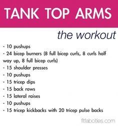 Tank Top Arms ,