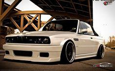 BMW E30 M3 white cabrio deep ;)